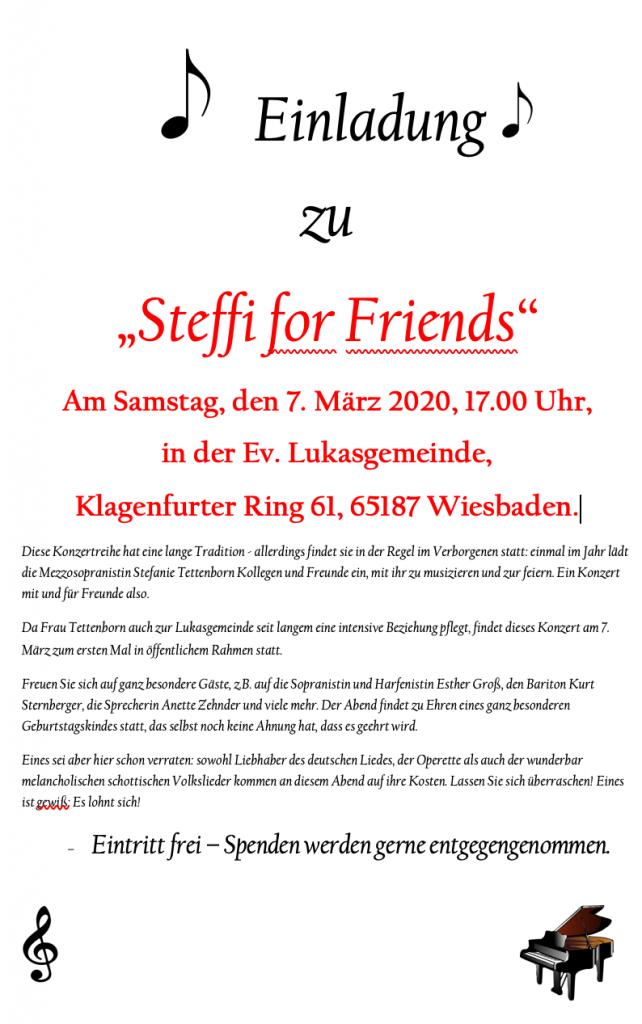 Flyer Steffi for Friends